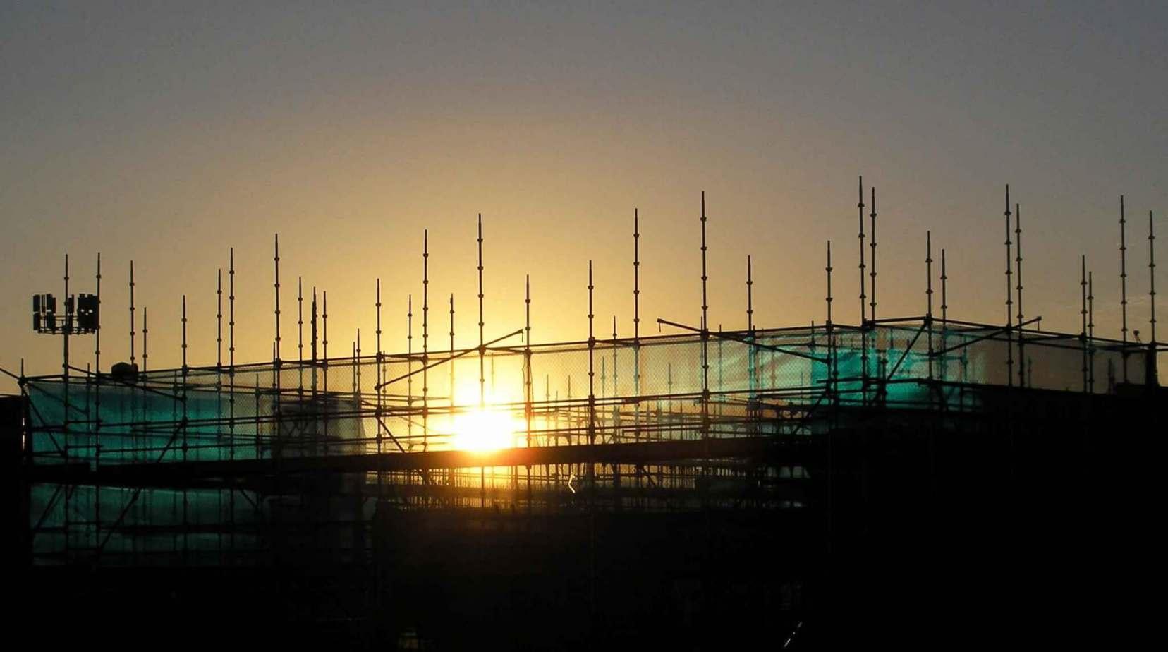 CONSTRUCTION WORK HALTS